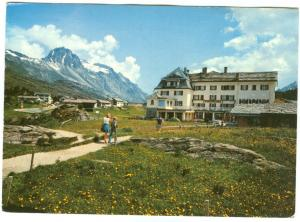 Switzerland, Maloja, Kulmhotel, mit Piz Lagrev, used Postcard