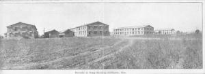 Chillicothe Ohio~Army Camp Sherman Barracks~Marked Spot~Double Attached Postcard