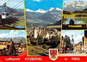 Luftkurort Kitzbuehel in Tirol, Kirche Church Street Auto Cars Lake Mountains