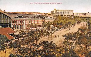 Spain Old Vintage Antique Post Card Royal Palace Madrid Unused