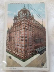 Antique Postcard entitled, Waldorf Astoria Hotel