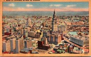 Ohio Cleveland Airplane View 1946