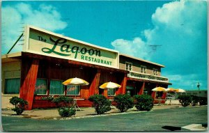 Ocean City, Maryland Postcard THE LAGOON STEAK HOUSE Restaurant Roadside 1959