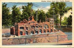 Kansas Topeka Gage Park Monkey Island Curteich