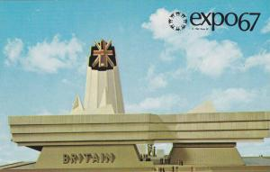 Front View of the Great Britain Pavilion, Expo 67, Montreal, Quebec, Canada, ...