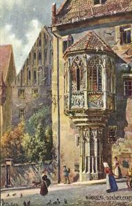 germany, NÜRNBERG, Schöner Erker (1910s) Raphael Tuck Oilette I - 611B