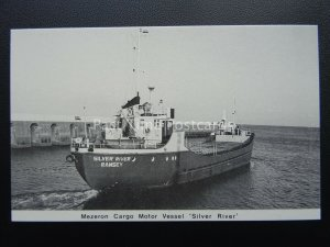 Isle of Man Shipping SILVER RIVER - MEZERON CARGO c1980's Postcard by Mannin