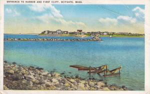 Entrance to Harbor & First Cliff , SCITUATE , Massachusetts , PU-1942
