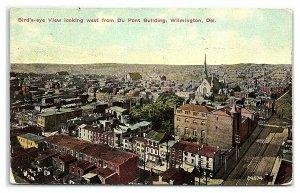 1910 Bird's-Eye View of Wilmington, DE Postcard *7B10