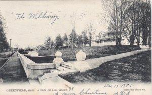 GREENFIELD, Massachusetts, 1905; View on High Street, TUCK 2281