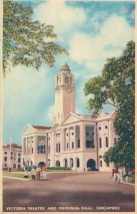 Singapore Victoria Theatre and Memorial Hall postcard