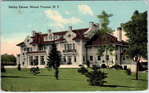 MOUNT VERNON, NY New York   BAILEY ESTATE-Mansion       1915  Postcard