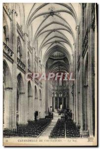 Old Postcard From Coutances Cathedral Nave