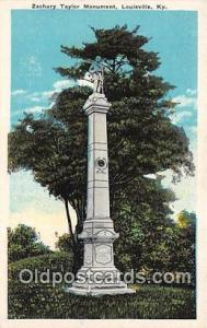 Statue Postcard Louisville, KY, USA Zachery Taylor Monument