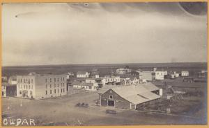 RPPC- Cupar, Saskatchewan, Aerial View of the city -