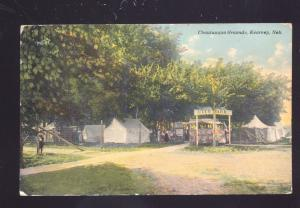 KEARNEY NEBRASKA CHAUTAUQUA GROUNDS ANTIQUE VINTAGE POSTCARD