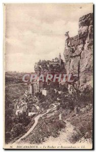 Old Postcard The Rock And Rocamadour Rocamadour