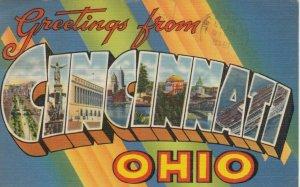 Large Letter Greetings, CINCINNATI , Ohio , 1942