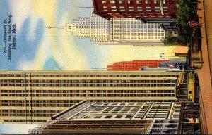 Michigan Detroit Griswold Street Showing The Scott Building Curteich