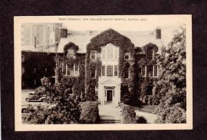 MA Entrance New England Baptist Hospital Boston Mass Massachusetts Postcard
