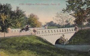 Illinois Peoria Bridge On Park Driveway