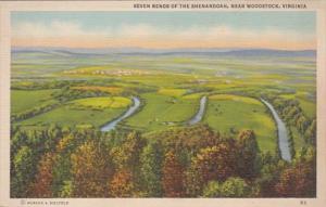 Virginia Seven Bends Of The Shenandoah River Near Woodstock