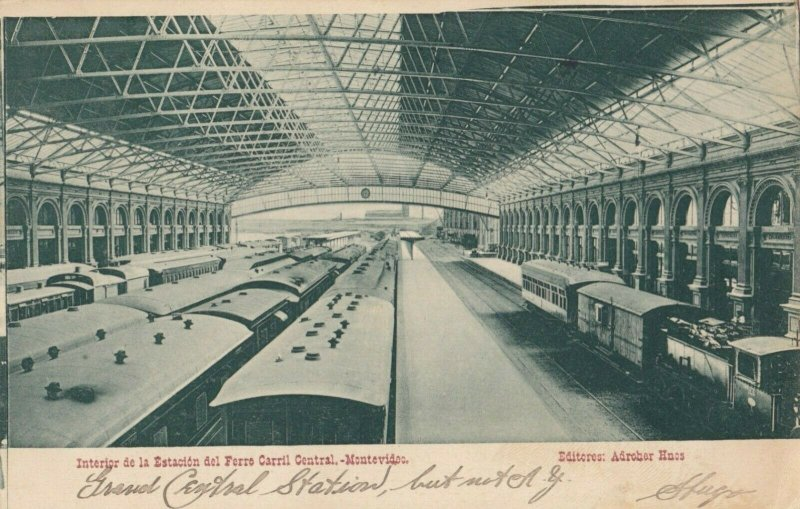 MONTEVIDEO , Uruguay , 1907 ; Railroad Train Depot