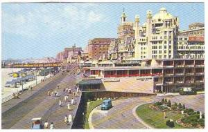 View Over The Beautiful Boardwalk, Atlantic City, New Jersey,40-60s