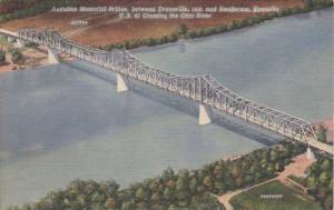 Kentucky Audubon Memorial Bridge U S 41 Over Ohio River Connecting Henderson ...