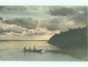 Divided-back LAKE SCENE Chautauqua Lake - Near Jamestown New York NY AE5227