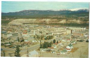 Canada, View from airbase overlooking City of Whitehorse, Yukon, 1966 used