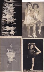 Norwich Theatre Groups Of Children Dancing 4x Antique Postcard s