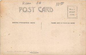 F96/ Ryan Ohio RPPC Postcard Lucas Co Railroad Bridge Locomotive c1910