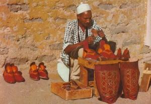 Libya Libyan Street Shoe Maker Aritst Pottery Crafts Postcard
