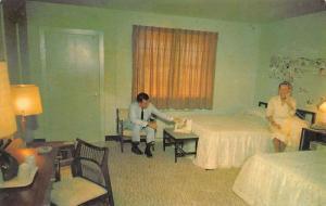 Hampton Virginia Manor Motel Room Interior Vintage Postcard K24866