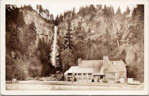 Multnomah Lodge OR Oregon Multnomah Falls Columbia River Unused Postcard F13