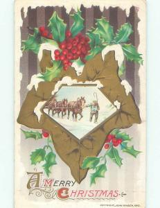 Divided-Back CHRISTMAS SCENE Great Postcard AA0366