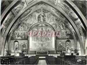 Postcard Modern Alban (Tarn) Interior of the Church