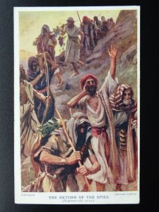 Christian Biblical Scene THE RETURN OF THE SPIES c1920s Postcard by Track Soc