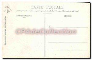Old Postcard Menton Garavan Vue Prize From Aloes In Flowers