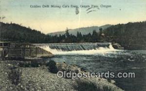 Golden Drift Mining Co's Dam Grants Pass OR 1908