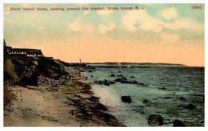 Rhode Island  Block Island  Shore looking toward Old Harbor
