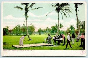 Palm Beach~Black Caddies~Lady Tees Off Golf Hole #1~Detroit Publishing #8223 '04