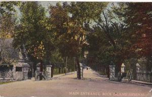 Illinois Rock Island Arsenal Main Entrance 1916