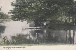 Canoe among Islands, Sunset Lake - Asbury Park NJ, New Jersey - DB