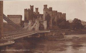 RP: WALES, 1930s; Conway Castle And Bridge, #1924 Judges Ltd. Hastings