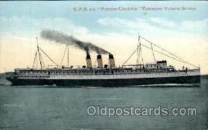 C.P.R. S.S. Princess Charlotte Vancouver - Victoria Service Unused
