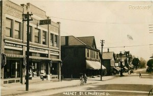 OH, East Palestine, Ohio, Market Street, Chamberlain and Moore,  RPPC