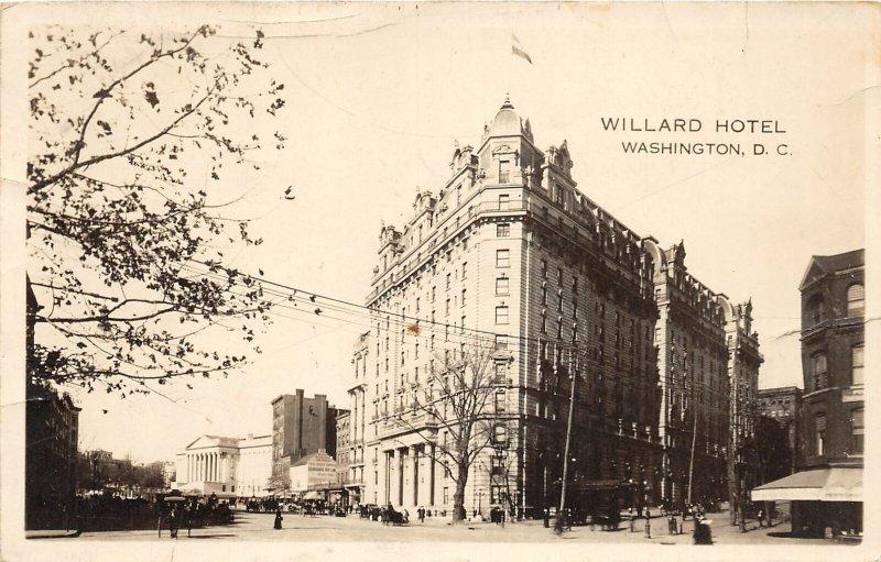 H78/ Washington D.C. RPPC Postcard c1929 Willard Hotel Building 161