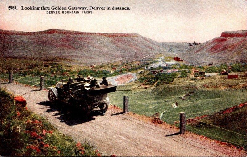 Colorado Denver Mountain Pass Looking Through Golden Gateway